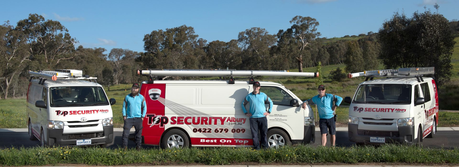 Top Security 3 Work Vans and Crew
